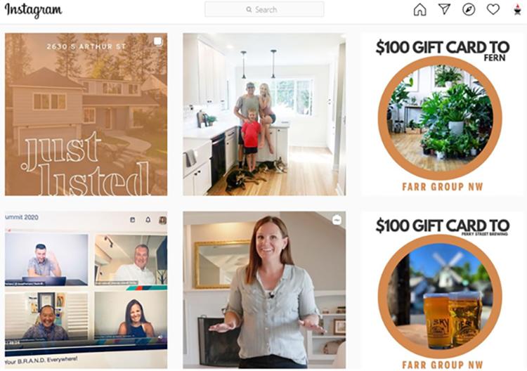 organic real estate follower growing