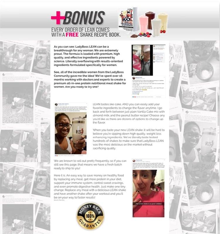 ladyboss labs customers social posts