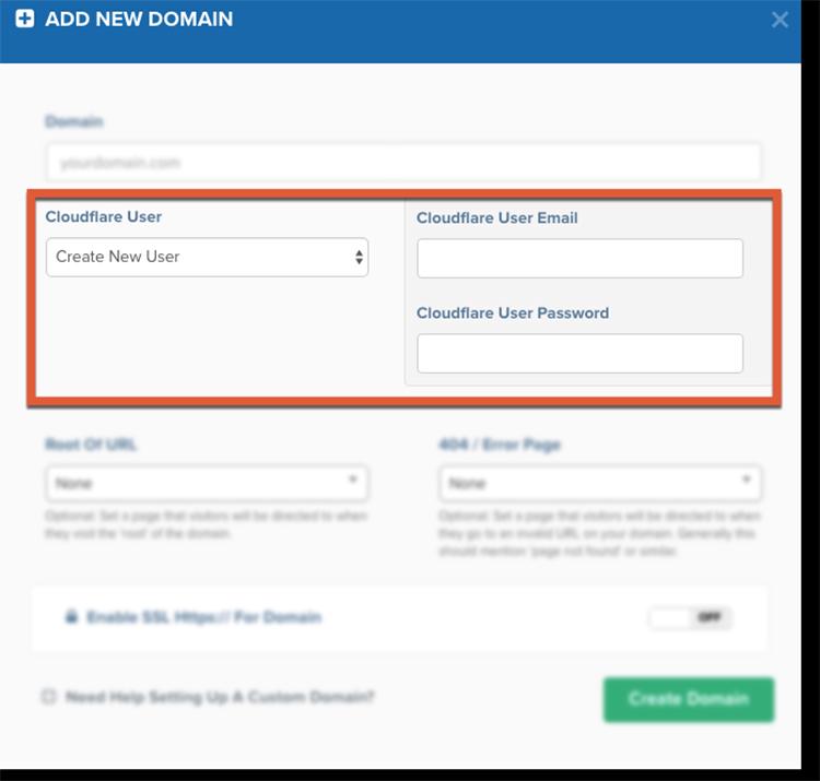 custom domain setup