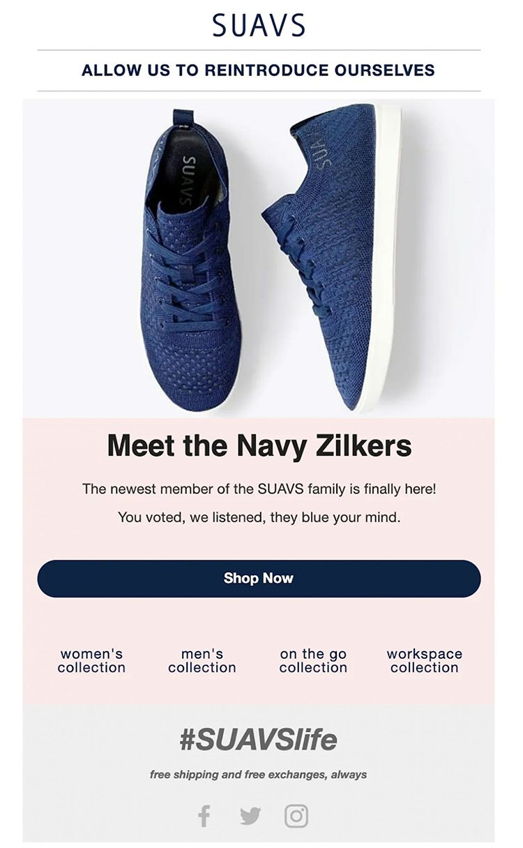 Email Example for SUAVS