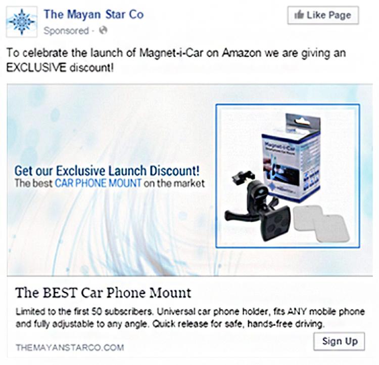 Effective Facebook Ad Example