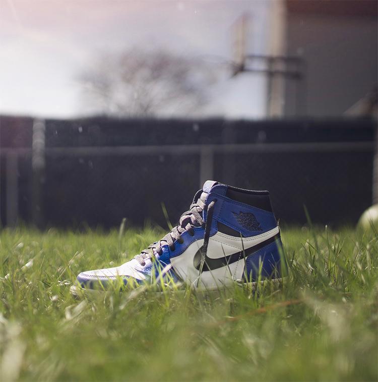 nike shoe in a field