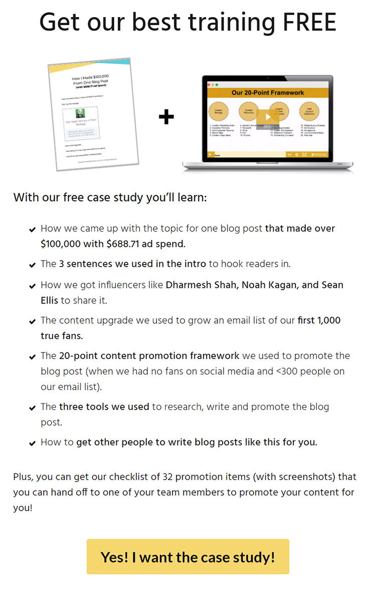 Get our best training free lead magnet example