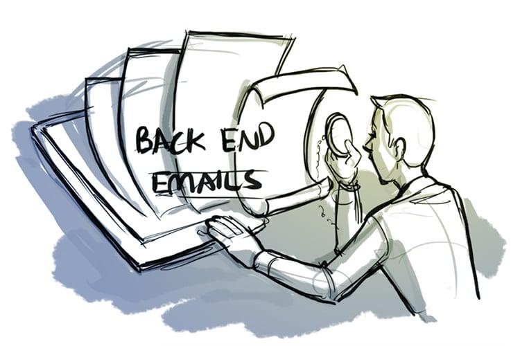back end emails