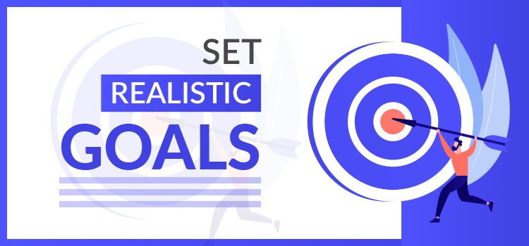 set realistic goals graphic