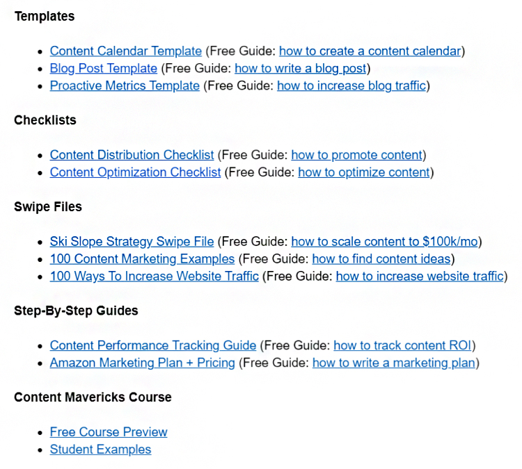 subscriber welcome email bonus content hyperlinks