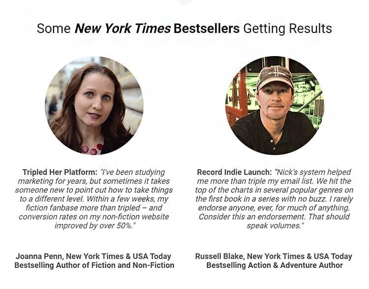New York times bestsellers testimonial examples