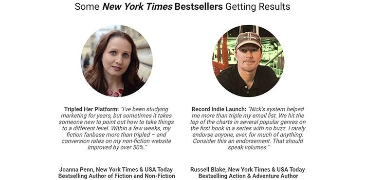 New York times bestseller testimonials