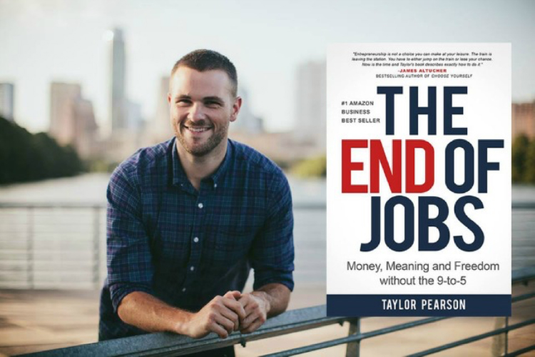 The End Of Jobs book graphic.