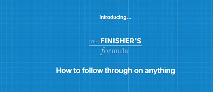 Sales page introducing the finisher's formula.