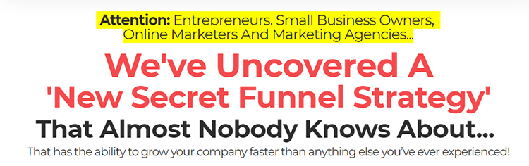 ClickFunnels, DotCom Secrets, headline and sub headline.