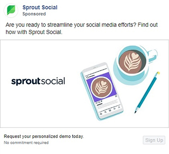 Sprout Social Ad example.