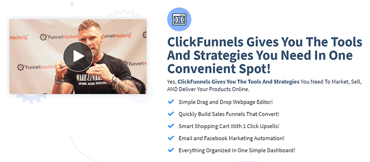 ClickFunnels website homepage explaining what is in ClickFunnels software.