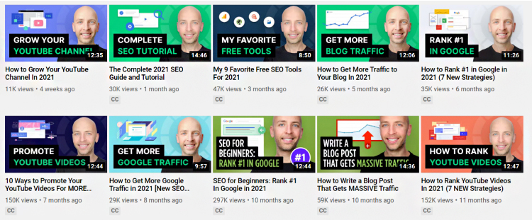 Youtube thumbnail designs.
