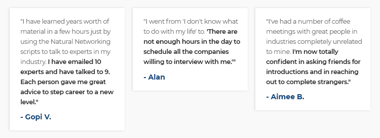 Long form sales page student testimonials example.