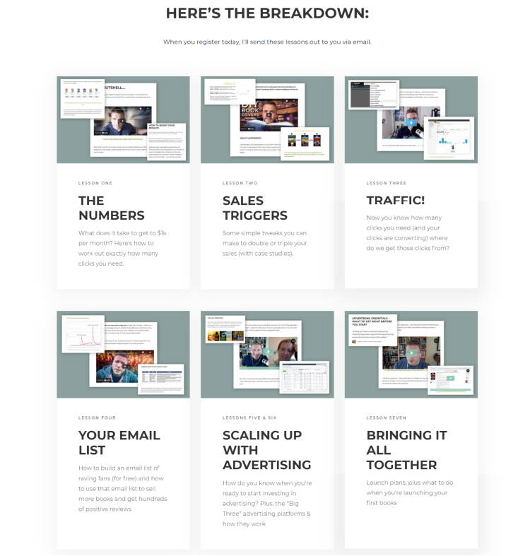 Create a Landing Page for Your Lead Magnet detailed course breakdown.