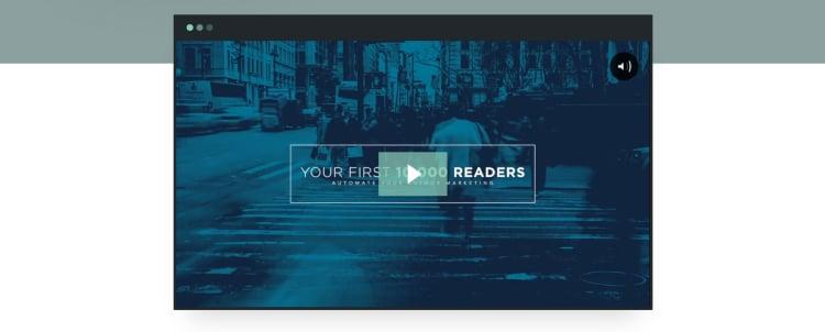 Medium-Length Landing Page, video below the fold video.