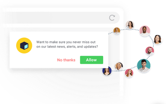 GetResponse push notification example.