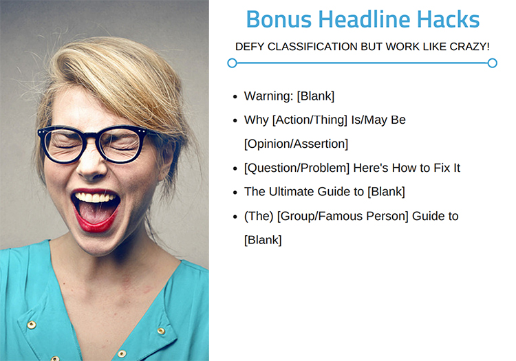 Blog post headline formula outline.