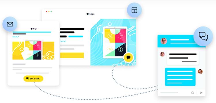 GetResponse live chat analytics flowchart.