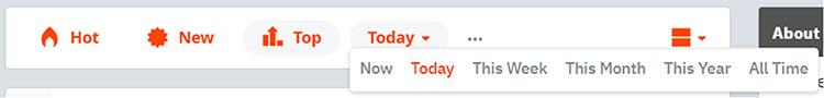 Reddit customer research sorting options.