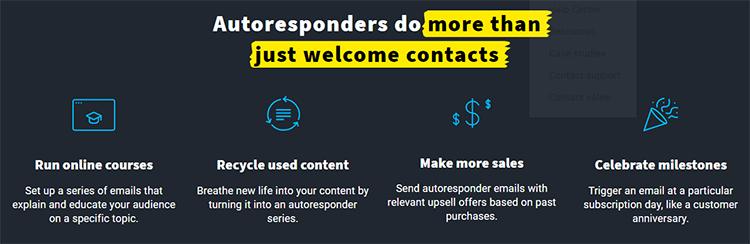 GetResponse autoresponder feature list graphic.