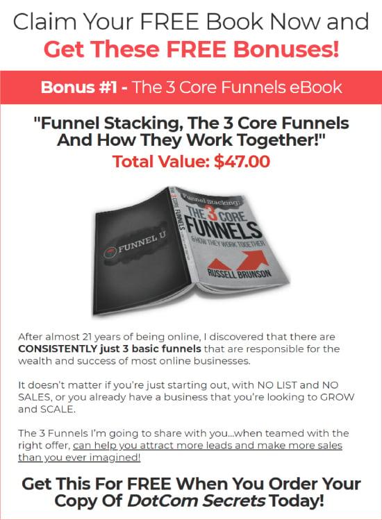 Long-Form Landing Page, ClickFunnels free bonuses.