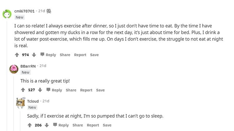 Reddit personal experience post responses.