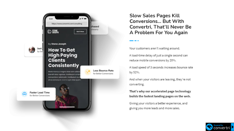 Slow ales pages kill conversion, cell phone graphic.