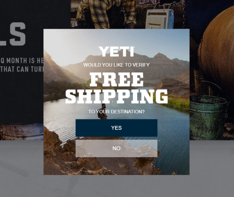 YETI, competitor analysis and funnel hacking example.