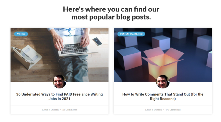 Smart Blogger homepage collection of the most popular posts.