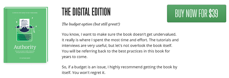 ConvertKit  down sell for The Complete Digital Edition, book only,  Graphic