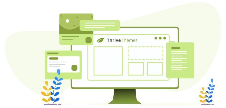 Thrive Themes desktop screen graphic.