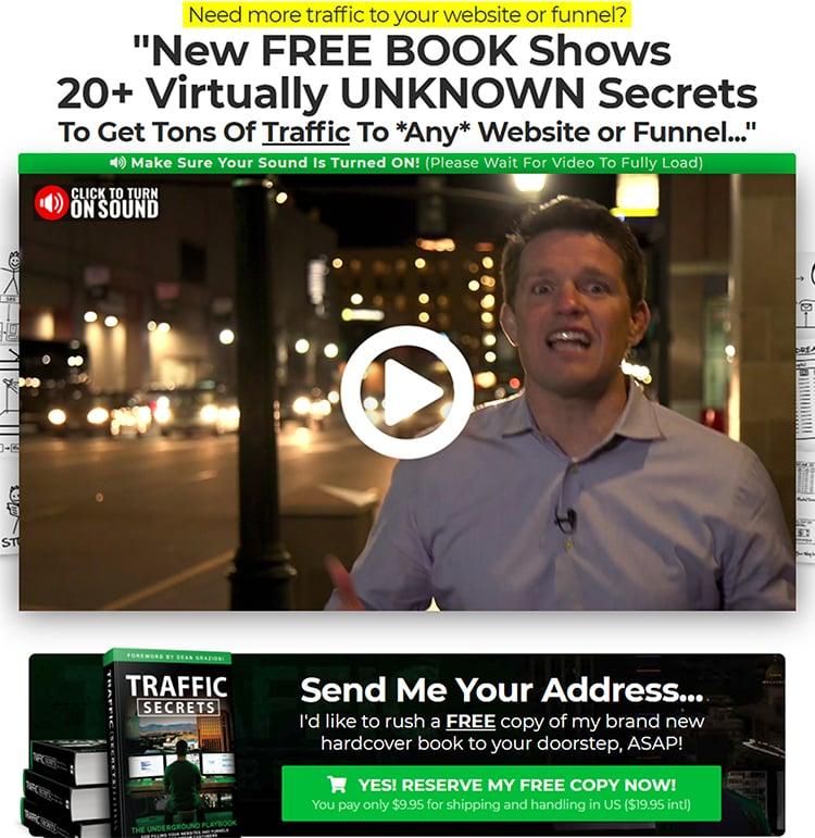 Demand Generation Tactics, Clickfunnels sales page example.