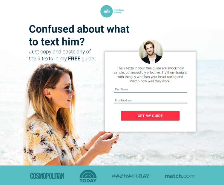 Figure Out Who Are Your Dream Customers, dating text example.