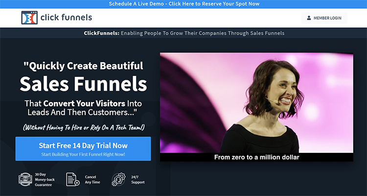 Pre-Emptively Address Potential Objections, Clickfunnels example.