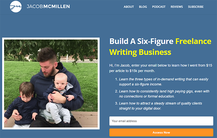 Jacob McMillen, elevator pitch example.
