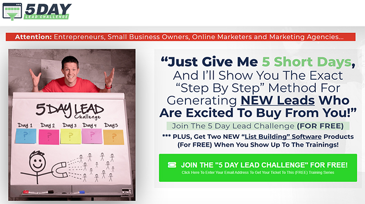 Free (Or Paid) Challenge, Clickfunnels example.