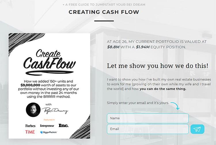 Creating CashFlow, elevator pitch example.