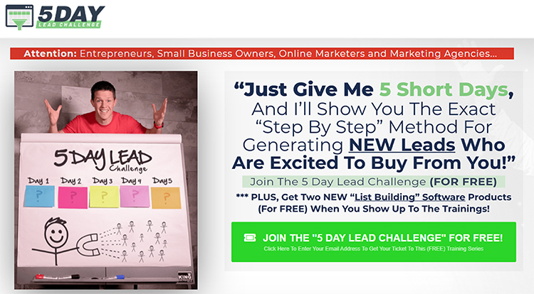 5 Day Lead Challenge, example.