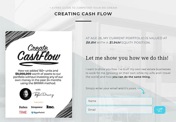 Define The Problem You Solve, Create Cash Flow example.