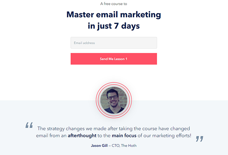 Reverse Squeeze Page, Email Mastery.