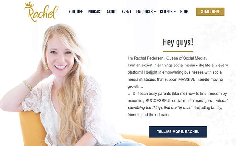 Rachel Pedersen, elevator pitch example.