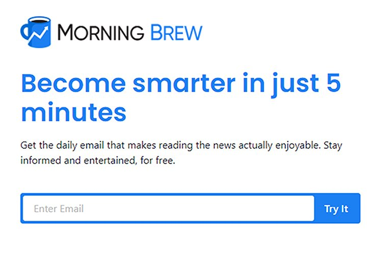 Define The Problem You Solve, Morning Brew example.