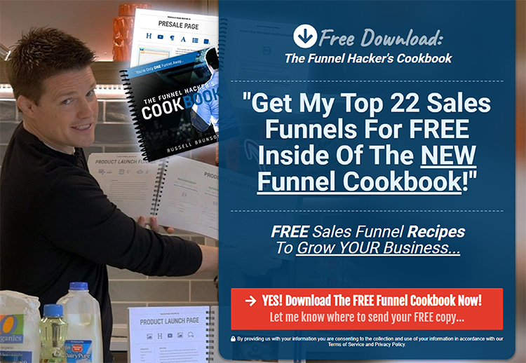 Lead Magnets, The Funnel Hackers Cookbook example.