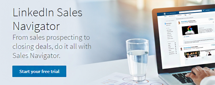 Find Prospects, LinkedIn Sales Navigator website homepage