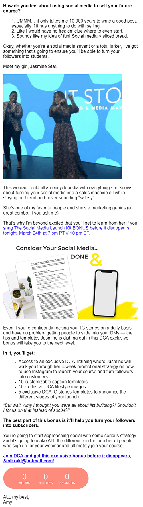 Build Follow-Up Funnels, email example.