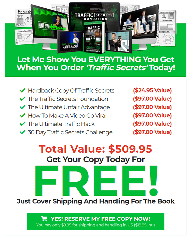 Hook, Story, Offer, the offer page example.