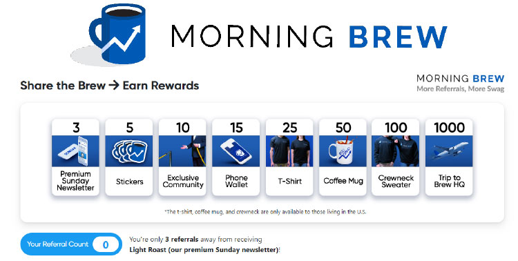 Email Newsletters, Morning Brew Example.