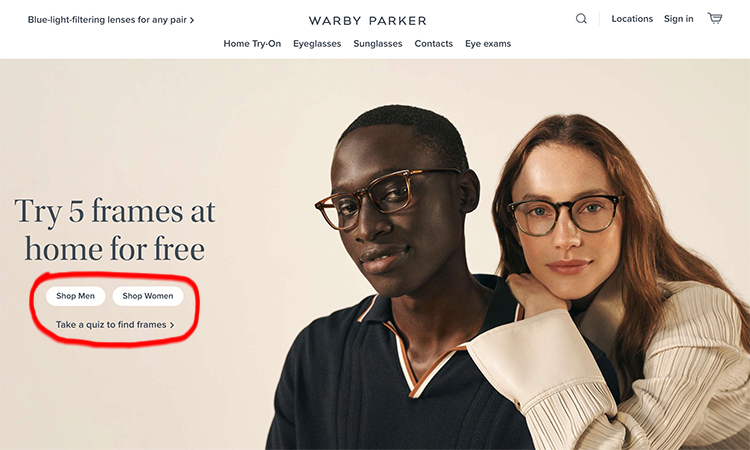 What's the difference between lead generation and brand awareness? Warby Parker eyeglass sales, lead magnet example.